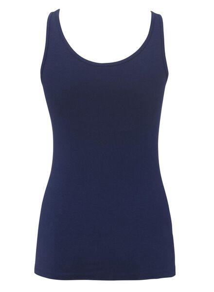 dameshemd katoen donkerblauw S - 19600582 - HEMA