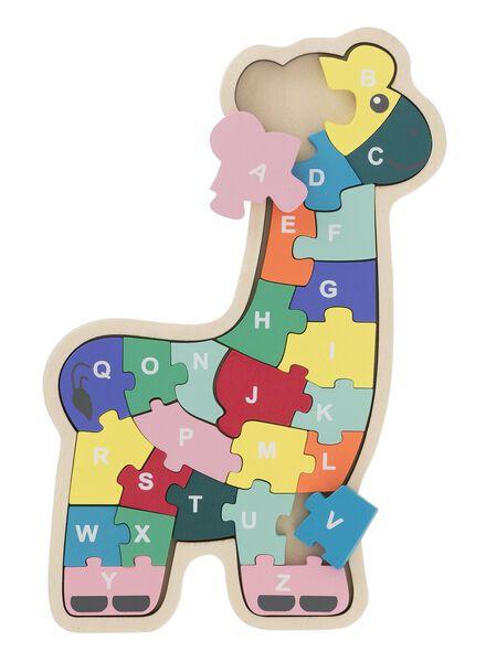 houten inlegpuzzel alfabet - 15122225 - HEMA