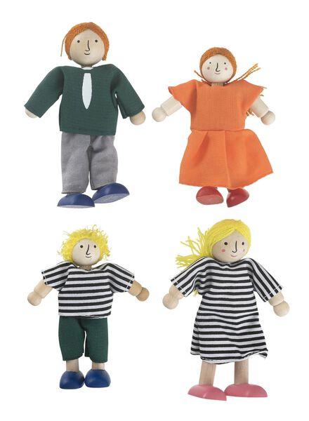 4-pak houten poppenhuispoppetjes - 15122415 - HEMA