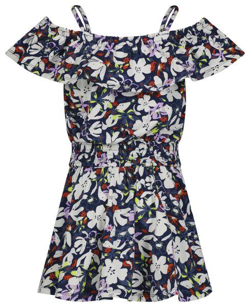 kinderjurk bloemen donkerblauw donkerblauw - 1000023790 - HEMA