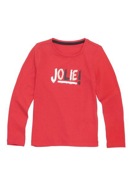 kinder t-shirt rood rood - 1000010988 - HEMA