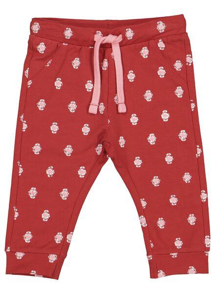 baby sweatbroek print rood rood - 1000014370 - HEMA