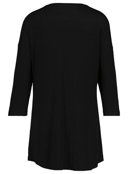 dames nachthemd zwart zwart - 1000017237 - HEMA