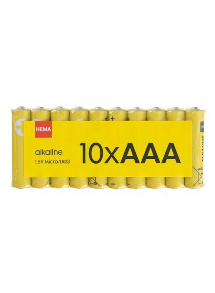 10-pak AAA batterijen alkaline - 41290256 - HEMA