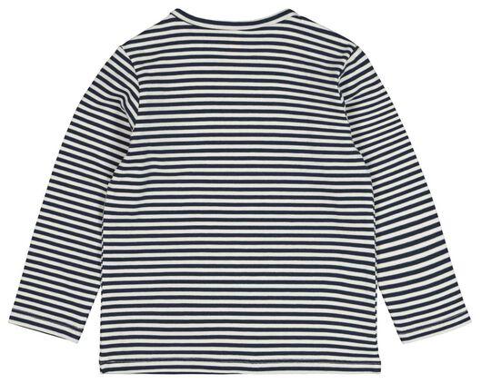 2-pak baby t-shirt met bamboe donkerblauw 86 - 33198925 - HEMA