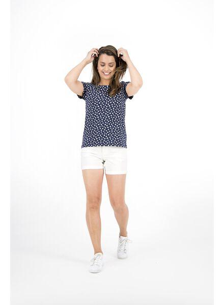 dames t-shirt donkerblauw donkerblauw - 1000014339 - HEMA