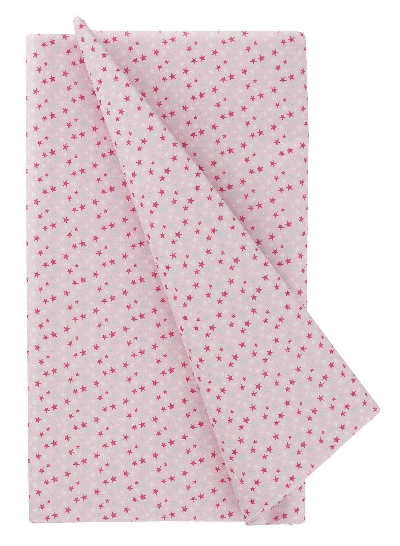 HEMA Tafelkleed - 138 X 220 - Papier - Roze Sterren (multicolor)