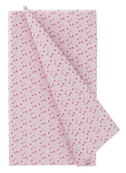 tafelkleed - 138 x 220 - papier - roze sterren - 14230117 - HEMA