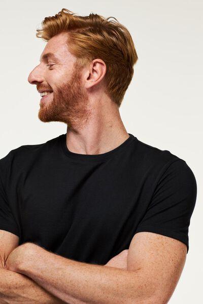 heren t-shirts - 2 stuks zwart zwart - 1000009970 - HEMA