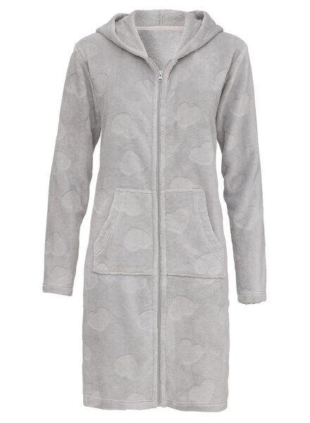 damesbadjas grijsmelange grijsmelange - 1000010273 - HEMA