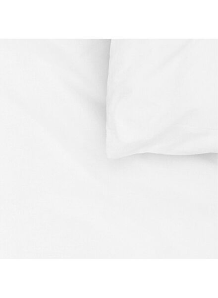dekbedovertrek - zacht katoen - 240 x 220 cm - wit - 5700051 - HEMA