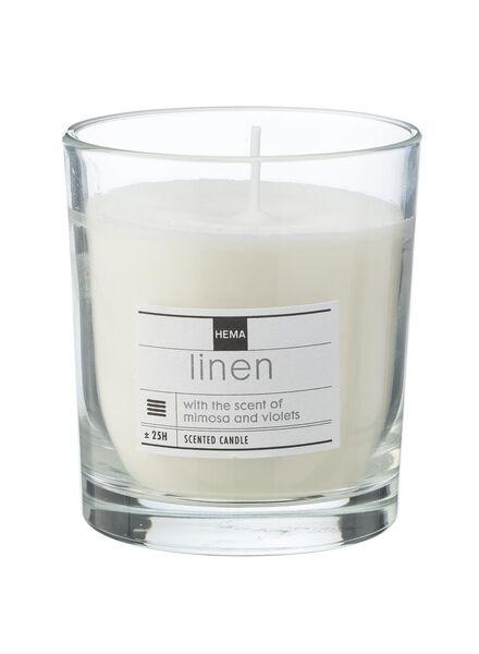 geurkaars in glas linen - 13502308 - HEMA