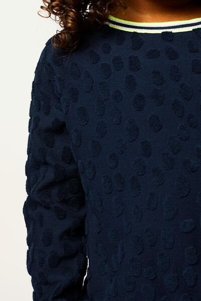 kindertrui gevlekt donkerblauw donkerblauw - 1000022089 - HEMA