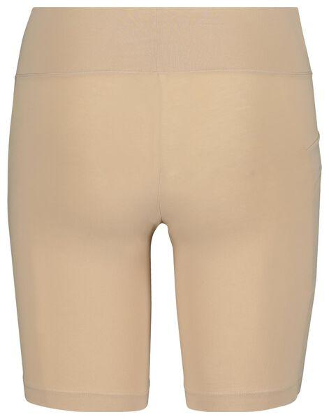 damesbiker real lasting cotton beige L - 19606173 - HEMA