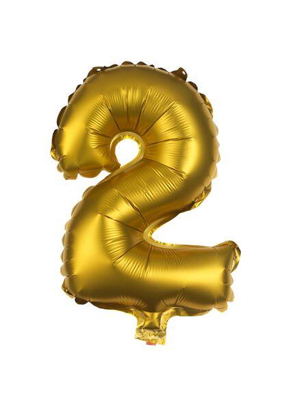 folieballon 2 - goud - 60800502 - HEMA