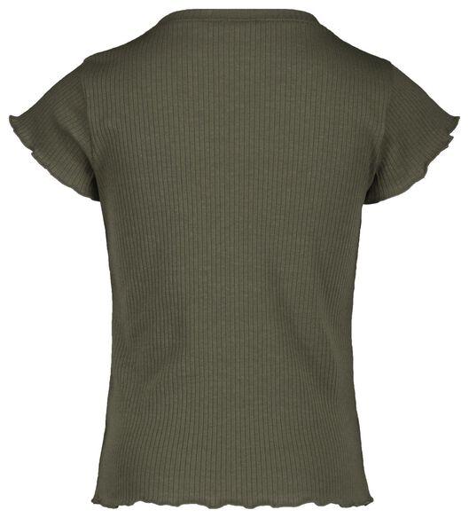 kinder t-shirt rib legergroen legergroen - 1000018971 - HEMA