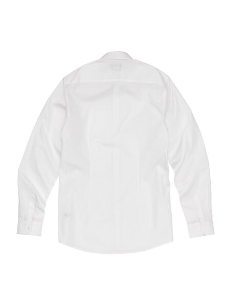 herenoverhemd tailored fit extra lang wit wit - 1000000695 - HEMA