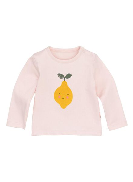 newborn t-shirt lichtroze lichtroze - 1000013213 - HEMA