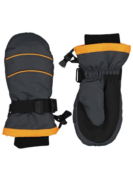 kinder skiwanten zwart zwart - 1000015333 - HEMA