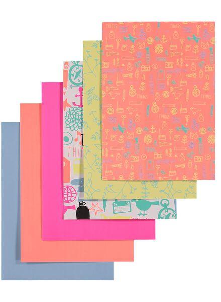 6-pak zelfklevend papier - 14100009 - HEMA