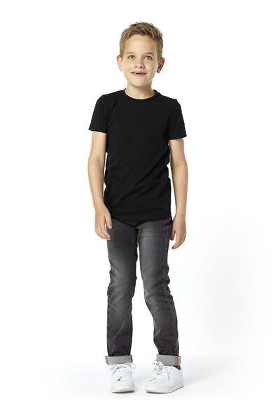 kinderbroek skinny zwart 164 - 30735463 - HEMA