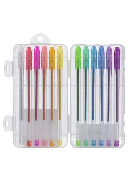 12-pak glitter gelpennen - 14422320 - HEMA