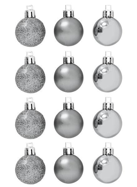 12-pak plastic kerstballen - 25100617 - HEMA