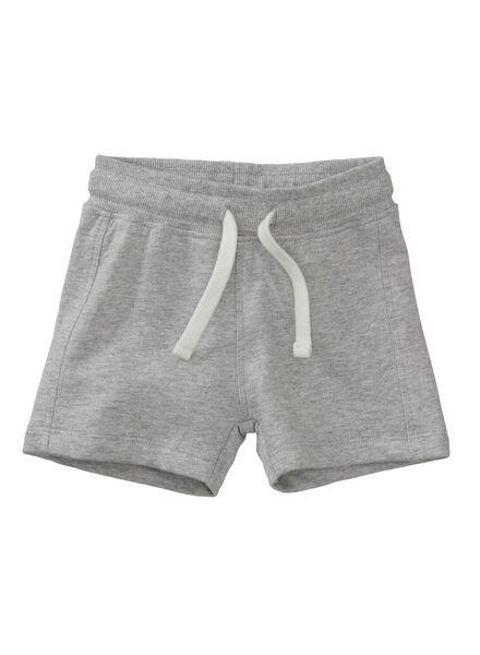 baby korte broek grijsmelange - 1000007996 - HEMA