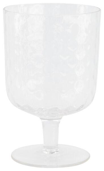 wijnglas Bergen facet reliëf 250ml - 9401055 - HEMA