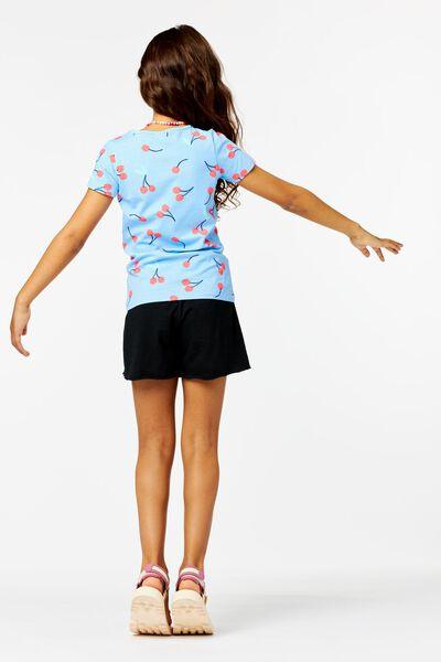 kinder t-shirt kersen blauw blauw - 1000024057 - HEMA