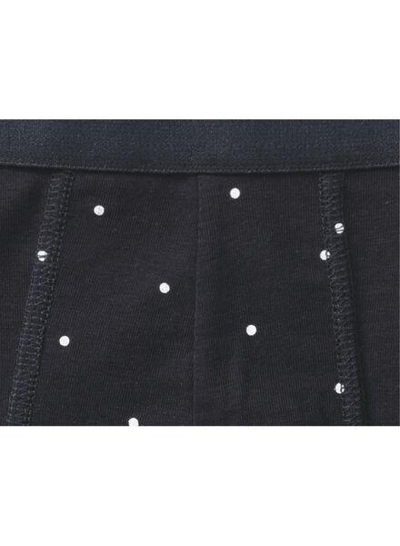 3-pak herenboxers kort donkerblauw donkerblauw - 1000009105 - HEMA