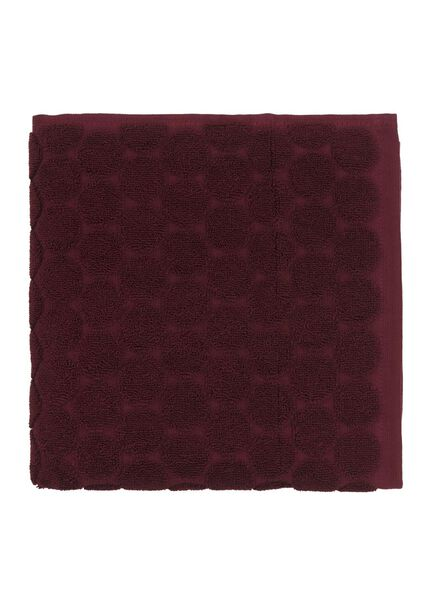 handdoek -  50 x 100 cm -  zware kwaliteit - bordeaux stip - 5220008 - HEMA