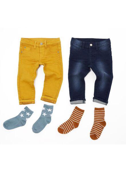 baby jogdenim donkerblauw donkerblauw - 1000014360 - HEMA