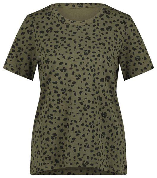 dames t-shirt olijf olijf - 1000021310 - HEMA
