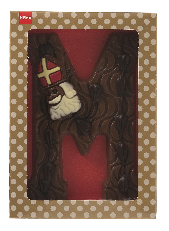 HEMA Gedecoreerde Melkchocoladeletter M