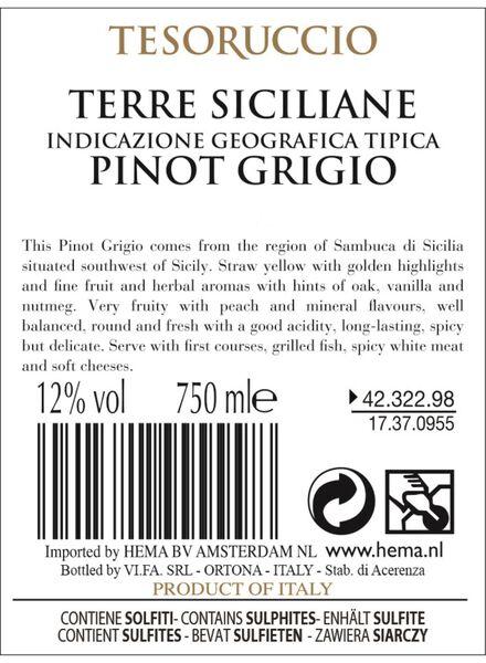tesoruccio pinot grigio - 0,75 L - 17370955 - HEMA