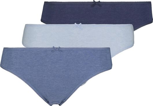 3-pak damesslips blauw blauw - 1000018559 - HEMA