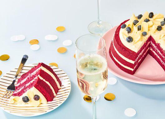 red velvet taart roos 8 p. - 6344157 - HEMA