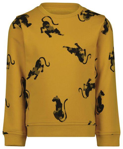 kindersweater cheeta geel - 1000024555 - HEMA