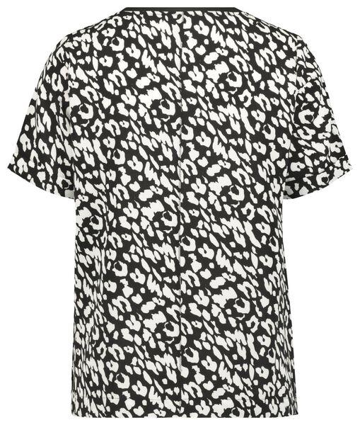 dames top animal recycled zwart XL - 36334799 - HEMA