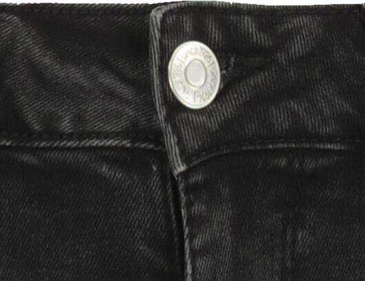 damesshort denim zwart zwart - 1000019616 - HEMA