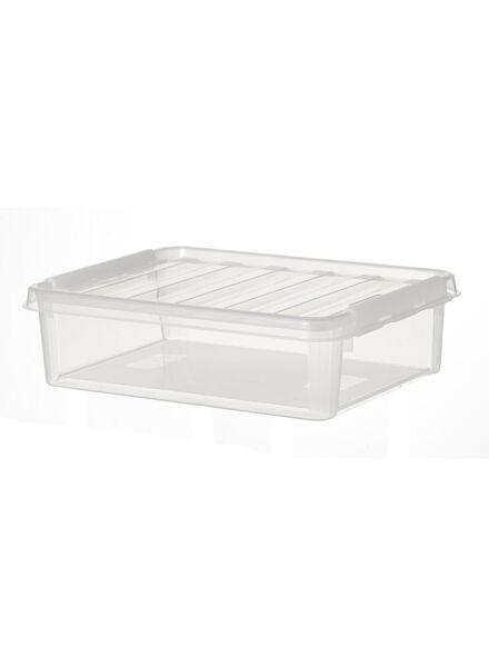 opbergbox 40 x 30 x 12 cm 40 x 30 x 12 transparant - 39822004 - HEMA