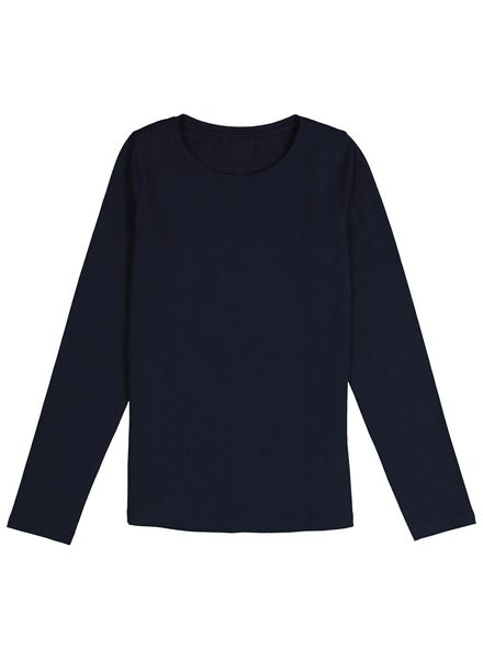 kinder t-shirt donkerblauw 98/104 - 30843657 - HEMA