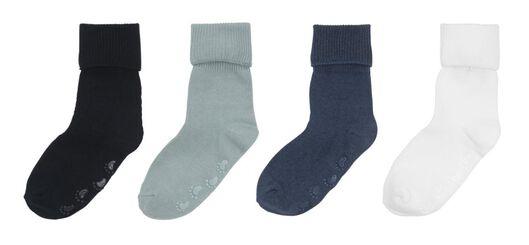 4-pak babysokken blauw blauw - 1000009521 - HEMA