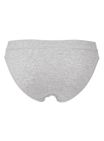 damesslip real lasting cotton grijsmelange grijsmelange - 1000012254 - HEMA