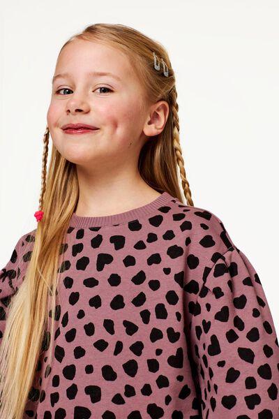 kindersweater ballonmouwen paars - 1000022871 - HEMA