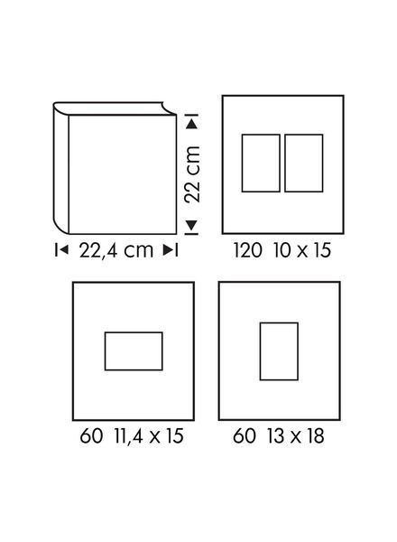 fotoalbum met venster 22x22.4 zilver - 14633319 - HEMA