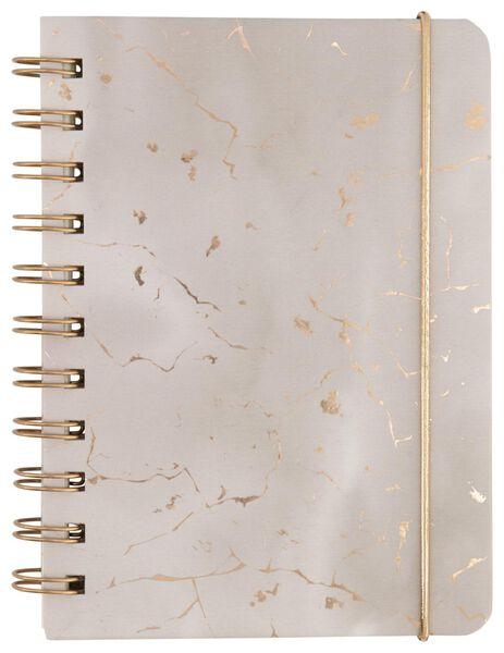 Notitieboek A6 gelinieerd marmer roze - in Notitieboeken