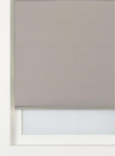 rolgordijn uni verduisterend/gekleurde achterzijde taupe taupe - 1000016377 - HEMA