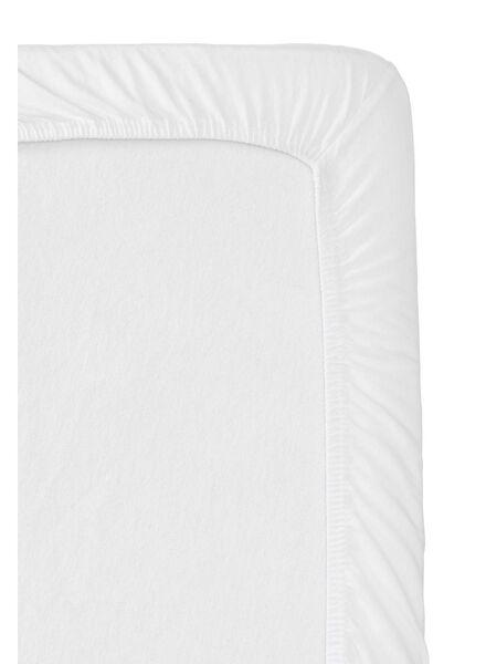 jersey hoeslaken split-topper 160 x 200/210 cm wit 160 x 200 - 5150015 - HEMA
